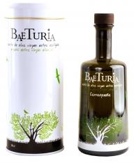 Ecologische extra virgen olijfolie Carrasqueña van Baeturia met etui