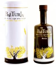 Ecologische extra virgen olijfolie Morisca van Baeturia met etui