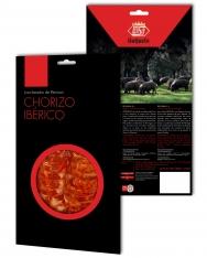 Iberische chorizo van grasgevoerde varkens van Revisan Ibéricos gesneden