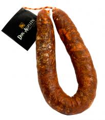 Iberische extra natuurlijke hoefvormige (Sarta) chorizo van eikel-varkens (Bellota) van superieure kwaliteit van Don Agustín