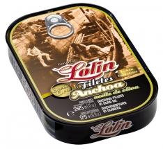 Ansjovisfilets in olijfolie uit de goud-serie van Lolin