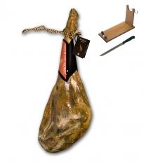 Serrano ham (wit-vet) gran reserva bodega especial ham van Revisan Ibéricos + hamklem + hammes