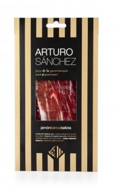 Iberische ham gran reserva van eikel-varkens (Bellota) van Arturo Sánchez handgesneden