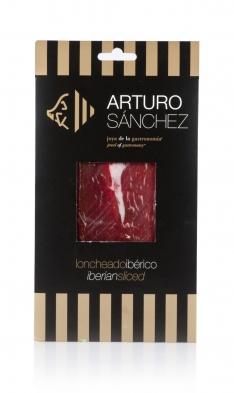 Iberische ham van grasgevoerde varkens van Arturo Sánchez gesneden