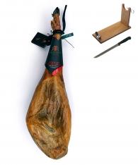 Iberische ham van grasgevoerde varkens van Revisan Ibéricos + hamklem + hammes