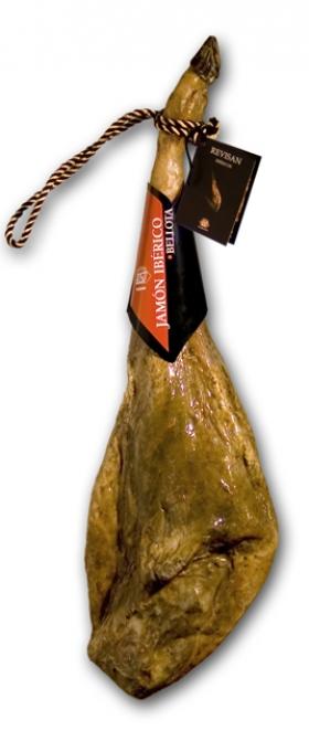 Iberische ham van eikel-varkens (Bellota) met certificaat van Revisan Ibéricos