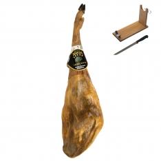 Iberische ham van eikel-varkens (Bellota) van Ibéricos Dehesa Casablanca + hamklem + hammes