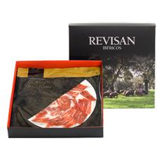Iberische ham van eikel-varkens (Bellota) van Revisan Ibéricos handgesneden - premium doos