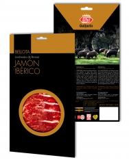 Iberische ham van eikel-varkens (Bellota) van Revisan Ibéricos gesneden