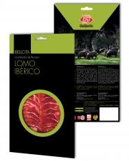 Iberische varkenshaas van eikel-varkens (Bellota) van Revisan Ibéricos gesneden