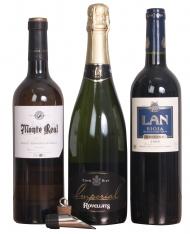 Kerstpakket aangepaste wijnen