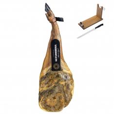 Iberische schouderham 100% van eikelvarkens (Bellota) van Altadehesa + hamklem + hammes