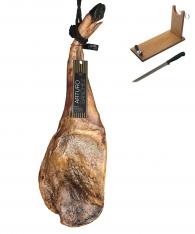 Iberische Gran Reserva schouderham van 100% eikel-varkens (Bellota) van Arturo Sánchez + hamklem + hammes