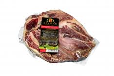 Iberische schouderham van eikel-varkens (Bellota) met certificaat van Revisan Ibéricos ontbeend en ontvet