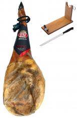 Iberische schouderham van grasgevoerde varkens van Revisan Ibéricos - heel + hamklem + hammes