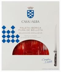 Iberische schouderham van 100% pure eikel-varkens van Casa de Alba - Handgesneden