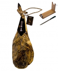 Iberische superieure kwaliteit schouderham van eikel-varkens (Bellota) van Don Agustín + hamklem + hammes