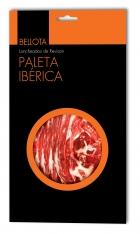 Iberische schouderham van eikel-varkens (Bellota) van Revisan Ibéricos gesneden