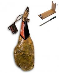 Iberische schouderham van grasgevoerde varkens met certificaat van Revisan Ibéricos + hamklem + hammes