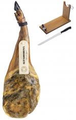 Iberische schouderham van grasgevoerde varkens van Altadehesa + hamklem + mes