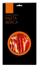 Iberische schouderham van grasgevoerde varkens van Revisan Ibéricos gesneden