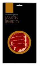 Iberische ham van van grasgevoerde varkens van Revisan Ibéricos gesneden