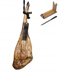 Iberische gran reserva ham van eikel-varkens (Bellota) van 100% puur ras van Arturo Sánchez + hamklem + hammes