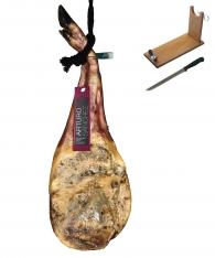 Iberische schouderham van omheinde-weide varkens van Arturo Sánchez + hamklem + hammes