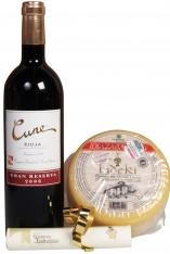 Kerstpakket met Kaas en Rode wijn