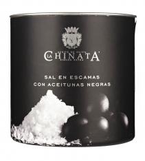 Zeezout vlokken met olijf van La Chinata