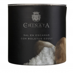 Zeezout vlokken met eekhoorntjesbrood van La Chinata