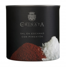 Zeezout vlokken met paprikapoeder van La Chinata