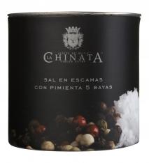 Zeezout vlokken met peper van La Chinata