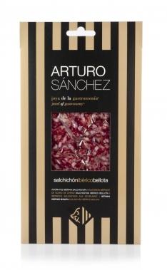 Iberische worst gran reserva van eikel-varkens (Bellota) van Arturo Sánchez handgesneden